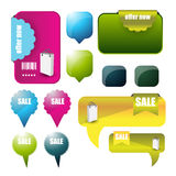 Web user interface elements Royalty Free Stock Image