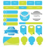 Web user interface elements Royalty Free Stock Photo