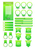 Web user interface elements Stock Photos