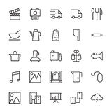 Web and User Interface Outline Vector Icons 4 Stock Images
