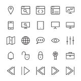 Web and User Interface Outline Vector Icons 7 Royalty Free Stock Photo