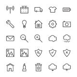 Web and User Interface Outline Vector Icons 8 Stock Photography