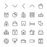 Web and User Interface Outline Vector Icons 3 Stock Image