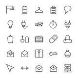Web and User Interface Outline Vector Icons 12 Royalty Free Stock Photo