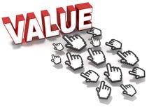 Web value Stock Image