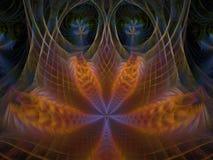 Web van Phoenix Lotus Flame Fractal royalty-vrije illustratie