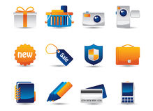 Web Vector Icons. Professional icons for websites applications or presentations Royalty Free Stock Images