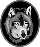 Web The Vector logo wolf for T-shirt d. The Vector logo wolf for T-shirt design or outwear. Hunting style wolf background vector illustration