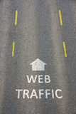 Web-Verkehr Stockbilder