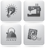 Web-verschiedenes Set Stockbilder