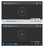 Web video player Royalty Free Stock Image