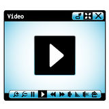 Web video player window Royalty Free Stock Image
