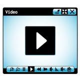 Web video player window stock illustration
