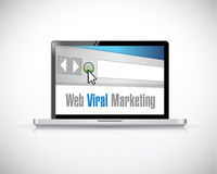Web viral marketing computer laptop illustration Stock Image