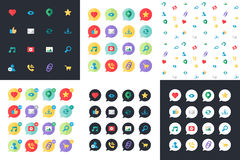 Web Virtual Socail Network Icons Royalty Free Stock Images