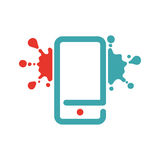 Web virus guard sign on smartphone. Stock Photography