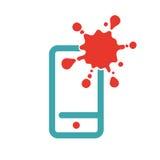 Web virus guard sign on smartphone Stock Photos