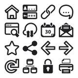 Web vlakke pictogrammen zwart Stock Foto's