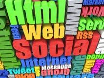 Web wall Royalty Free Stock Image