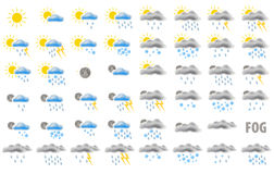 Web weather icons Royalty Free Stock Photos