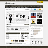 Web Website Element Design Template Stock Photography