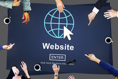 Web Website WWW Browser Internet Networking Concept Royalty Free Stock Photos