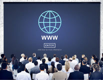 Web Website WWW Browser Internet Networking Concept stock images