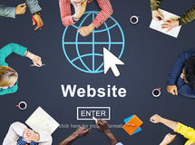 Web Website WWW Browser Internet Networking Concept stock photo