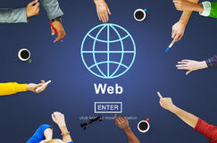 Web Website WWW Browser Internet Networking Concept royalty free stock images