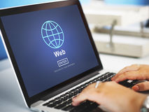 Web Website WWW Browser Internet Networking Concept Royalty Free Stock Image