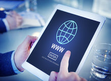 Web Website WWW Browser Internet Networking Concept. Web Browser Internet Networking Concept royalty free stock photos