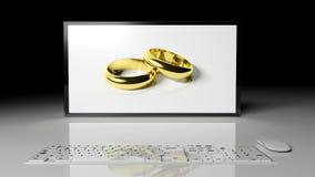 Web wedding Stock Image