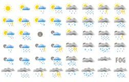 Web-Wetterikonen Lizenzfreie Stockfotos