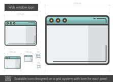 Web window line icon. Stock Images