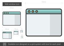 Web window line icon. Royalty Free Stock Photo