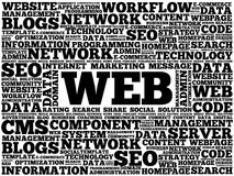WEB word cloud Stock Image