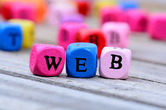 Web word on table royalty free stock photos