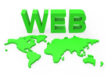 Web World Represents Globalisation Www And Website Stock Photo