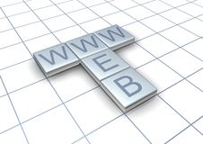 Web and www words Stock Photos