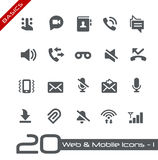 Web y fundamentos móviles de Icons-1 // Foto de archivo libre de regalías