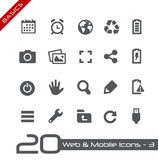 Web y fundamentos móviles de Icons-3 // Fotografía de archivo