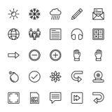 Web y línea móvil iconos 3 de UI del vector stock de ilustración