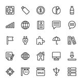 Web y línea móvil iconos 13 de UI del vector ilustración del vector