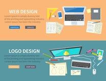 Web y Logo Design Concept Foto de archivo libre de regalías