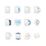 Web y mac de los iconos de la mesa stock de ilustración