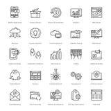 Web y SEO Line Vector Icons 2 Imágenes de archivo libres de regalías