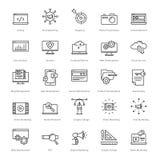 Web y SEO Line Vector Icons 1 Foto de archivo