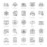 Web y SEO Line Vector Icons 11 Fotos de archivo
