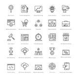 Web y SEO Line Vector Icons 8 Imagenes de archivo