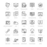 Web y SEO Line Vector Icons 16 Foto de archivo